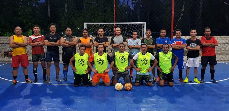 Laga Futsal, Tingkatkan Kemitraan Kodim 1312/Talaud & Wartawan