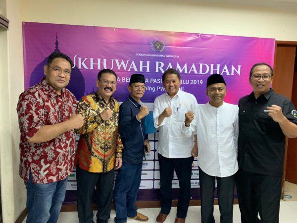Persatuan Wartawan Indonesia (PWI) meluncurkan saluran donasi dan sedekah melalui program PWI Peduli di Hall Dewan Pers, Kebon Sirih, Jakarta,