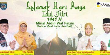 Walikota Depok Gelar Halal Bihalal Secara Virtual Dengan Jajarannya