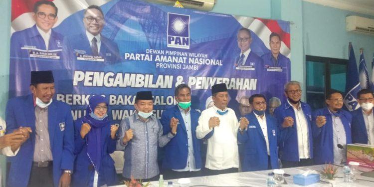 Calon Gubernur Jambi Alharis Dengan Wakil nya Sani Siap Ikuti Prosedur PAN