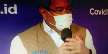 Koordinator Tim Pakar dan Juru Bicara Pemerintah Penanganan Covid-19, Prof. Wiku Adisasmito/Heru Lianto