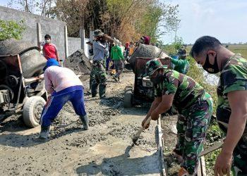 TNI Polri Bersinergi Dalam TMMD Program Tahap III Kodim 0719 Jepara.